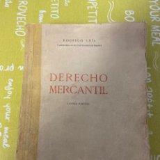 Libros de segunda mano: DERECHO MERCANTIL, DÉCIMA EDICIÓN DE RODRIGO URIA. Lote 196062783