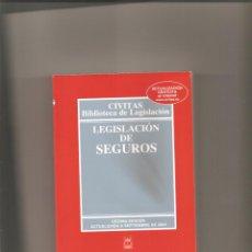 Libros de segunda mano: 1263. LEGISLACION DE SEGUROS. Lote 196293203