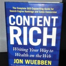 Libros de segunda mano: CONTENT RICH DE JON WUEBBEN. Lote 197149215