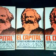 Libros de segunda mano: EL CAPITAL. CRÍTICA DE LA ECONOMÍA POLÍTICA (I-II-III) -MARX. Lote 197223830
