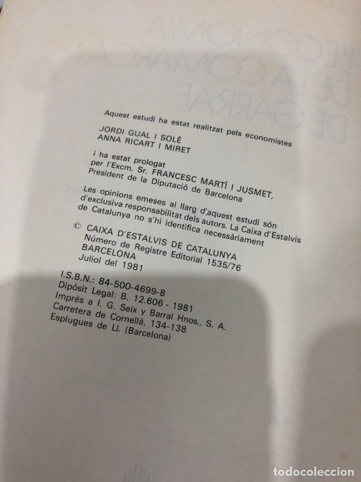 Libros de segunda mano: L economía de la comarca de Garraf - Foto 3 - 198156753