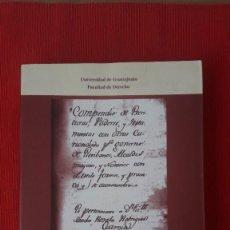 Libros de segunda mano: COMPENDIO DE ESCRITURAS, PODERES Y TESTAMENTOS...(1810. ED. 1998). DERECHO, NOTARIADO. MUY RARO. Lote 199309207