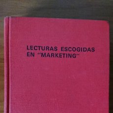 "Libros de segunda mano: LECTURAS ESCOGIDAS EN ""MARKETING"" – DAVID E. ALLEN JR.; HARPER W. BOYD JR.; SERIE ADMINISTRACIÓN DE . Lote 201298246"