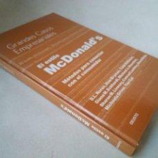 Libros de segunda mano: EL ESTILO MCDONALD'S. MÉTODOS PARA CONECTAR CON EL CONSUMIDOR.. Lote 201477551