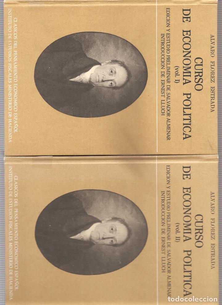 1724. ALVARO FLOREZ ESTRADA. CURSO DE ECONOMIA POLITICA (2 TOMOS) (Libros de Segunda Mano - Ciencias, Manuales y Oficios - Derecho, Economía y Comercio)