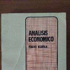 Libros de segunda mano: ANÁLISIS ECONÓMICO – FOLKE FAFKA – CENTRO DE INVESTIGACIONES – UNIVERSIDAD DEL PCÍFICO. Lote 201792437