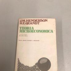 Libros de segunda mano: TEORÍA MICROECONÓMICA. Lote 201979528