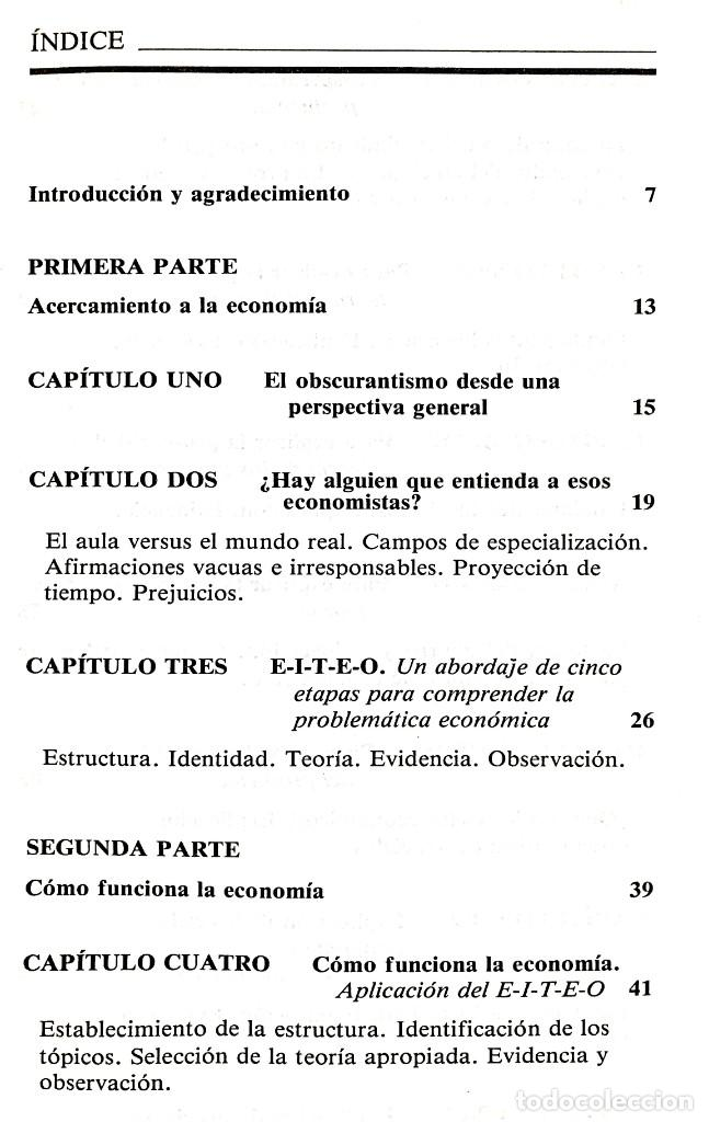 Libros de segunda mano: EL FUNCIONAMIENTO DE LA ECONOMÍA // ROBERT J. GENETSKI // EDICIONES TIBIDABO // ((1988)) - Foto 2 - 53801046