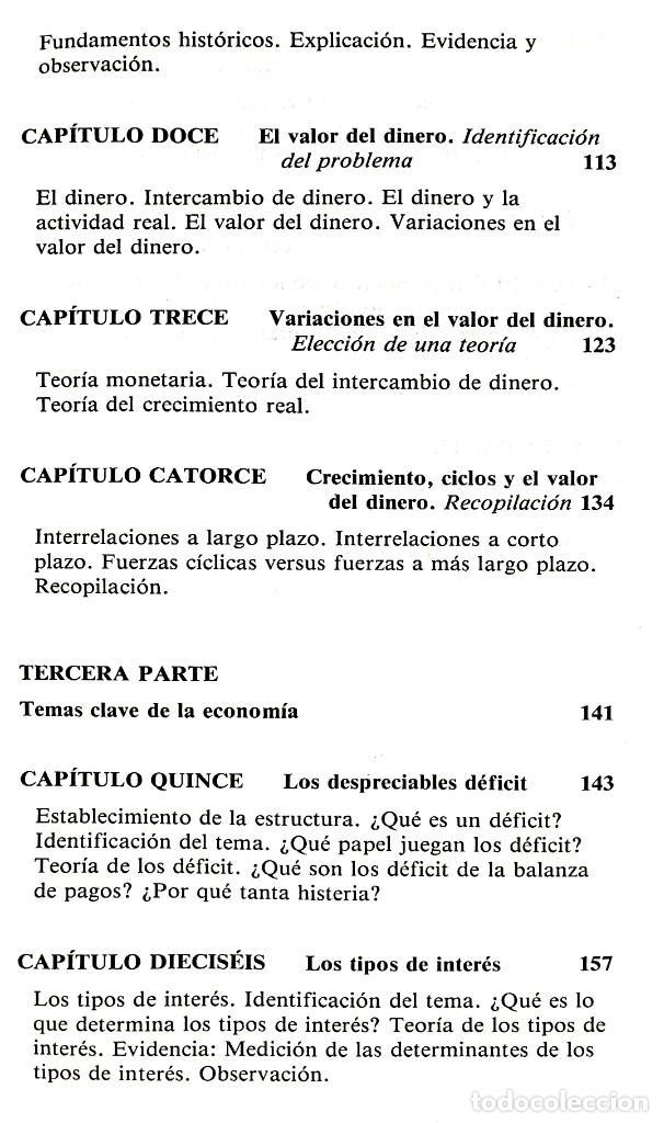 Libros de segunda mano: EL FUNCIONAMIENTO DE LA ECONOMÍA // ROBERT J. GENETSKI // EDICIONES TIBIDABO // ((1988)) - Foto 4 - 53801046