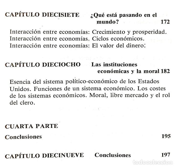Libros de segunda mano: EL FUNCIONAMIENTO DE LA ECONOMÍA // ROBERT J. GENETSKI // EDICIONES TIBIDABO // ((1988)) - Foto 5 - 53801046