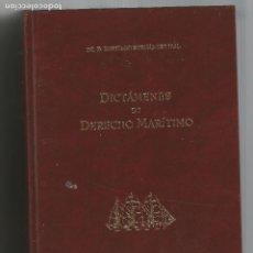 Libros de segunda mano: DICTAMENES DE DERECHO MARÍTIMO DR.SANTIAGO HERNÁNDEZ IZAL 2004 COL.LEGI D'AVOCATS DE BARCELONA. Lote 203076085