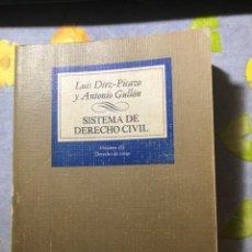 Libros de segunda mano: SISTEMA DE DERECHO CIVIL - VOLUMEN III - LUIS DÍEZ-PICAZO Y ANTONIO GULLÓN - TECNOS. Lote 204263963