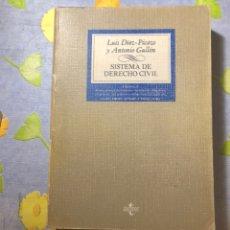 Libros de segunda mano: SISTEMA DE DERECHO CIVIL - VOLUMEN II - LUIS DÍEZ-PICAZO Y ANTONIO GULLÓN - TECNOS. Lote 204264907