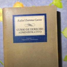 Libros de segunda mano: CURSO DE DERECHO ADMINISTRATIVO - RAFAEL ENTRENA CUESTA - TECNOS. Lote 204332713