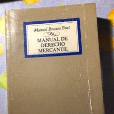 Libros de segunda mano: MANUAL DE DERECHO MERCANTIL - MANUEL BROSETA PONT - TECNOS. Lote 204347780