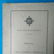 Libros de segunda mano: PROYECTO DE CARTA ECONÓMICA PROVINCIAL. Lote 204536720