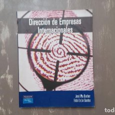 Libros de segunda mano: DIRECCIÓN DE EMPRESAS INTERNACIONALES POR JOSÉ PLA BARBER Y FIDEL LEÓN DARCER. Lote 205079446