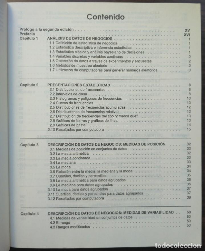 Libros de segunda mano: ESTADISTICA APLICADA A LA ADMINISTRACIÓN Y A LA ECONOMÍA. LEONARD KAZMIER, ALFREDO DÍAZ MATA - Foto 3 - 205476226