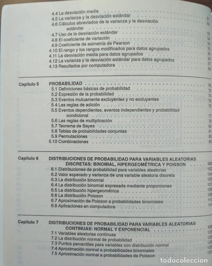 Libros de segunda mano: ESTADISTICA APLICADA A LA ADMINISTRACIÓN Y A LA ECONOMÍA. LEONARD KAZMIER, ALFREDO DÍAZ MATA - Foto 4 - 205476226