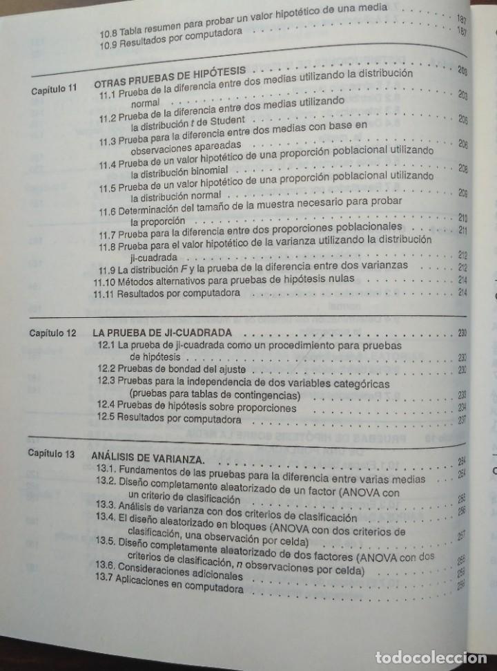 Libros de segunda mano: ESTADISTICA APLICADA A LA ADMINISTRACIÓN Y A LA ECONOMÍA. LEONARD KAZMIER, ALFREDO DÍAZ MATA - Foto 6 - 205476226