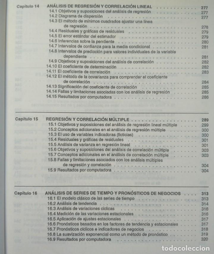 Libros de segunda mano: ESTADISTICA APLICADA A LA ADMINISTRACIÓN Y A LA ECONOMÍA. LEONARD KAZMIER, ALFREDO DÍAZ MATA - Foto 7 - 205476226