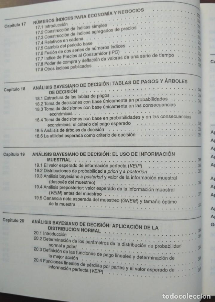 Libros de segunda mano: ESTADISTICA APLICADA A LA ADMINISTRACIÓN Y A LA ECONOMÍA. LEONARD KAZMIER, ALFREDO DÍAZ MATA - Foto 8 - 205476226
