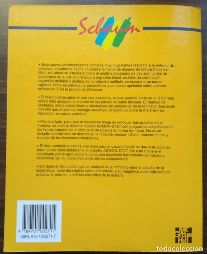 Libros de segunda mano: ESTADISTICA APLICADA A LA ADMINISTRACIÓN Y A LA ECONOMÍA. LEONARD KAZMIER, ALFREDO DÍAZ MATA - Foto 12 - 205476226