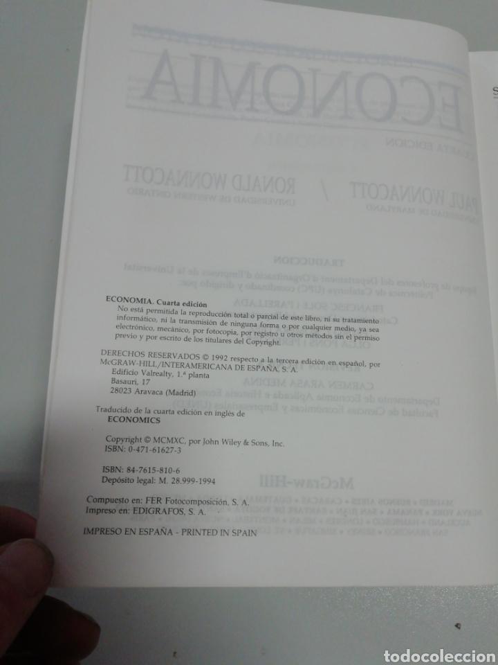 Libros de segunda mano: Economía cuarta edicion - Foto 4 - 206376011