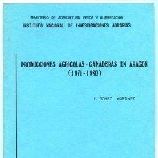 Libros de segunda mano: GÓMEZ, VALERIO. PRODUCCIONES AGRÍCOLAS - GANADERAS EN ARAGÓN (1971-1980). 1983.. Lote 206398442