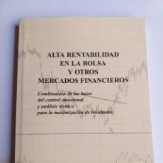 Livros em segunda mão: ALTA RENTABILIDAD EN LA BOLSA Y OTROS MERCADOS FINANCIEROS . CARLOS JAUREGUIZAR FRANCÉS. Lote 207111327