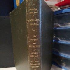 Libros de segunda mano: POLICIA JUDICIAL Y GUBERNATIVA ESPAÑOLA 1942. Lote 207609688