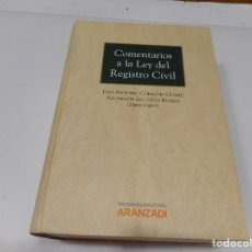 Libros de segunda mano: COMENTARIOS A LA LEY DEL REGISTRO CIVIL Q1116W. Lote 208071485