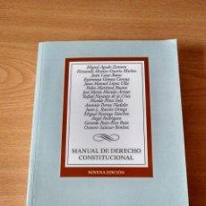 Libros de segunda mano: MANUAL DE DERECHO CONSTITUCIONAL. Lote 210109425
