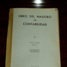 Livros em segunda mão: LIBRO DEL MAESTRO DE CONTABILIDAD - CUARTA EDICION TOMO 4. Lote 210144108