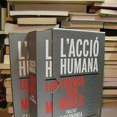Libros de segunda mano: MISES, LUDWIG VON. L'ACCIÓ HUMANA. TRACTAT D'ECONOMIA.. Lote 210278076