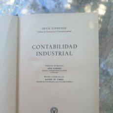 Libros de segunda mano: CONTABILIDAD INDUSTRIAL - ERICH SCHNEIDER MADRID 1949 AGUILAR PRIMERA ED. IN 4 TELA EDITORIAL 238. Lote 210281645