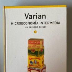Libros de segunda mano: VARIAN MICROECONOMIA INTERMEDIA - UN ENFOQUE ACTUAL 4º EDICIÓN. Lote 210552343