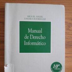 Libros de segunda mano: MANUAL DE DERECHO INFORMATICO, THOMSON ARANZADI, 10ª EDICION, 2008. MUY RARO. Lote 213625598