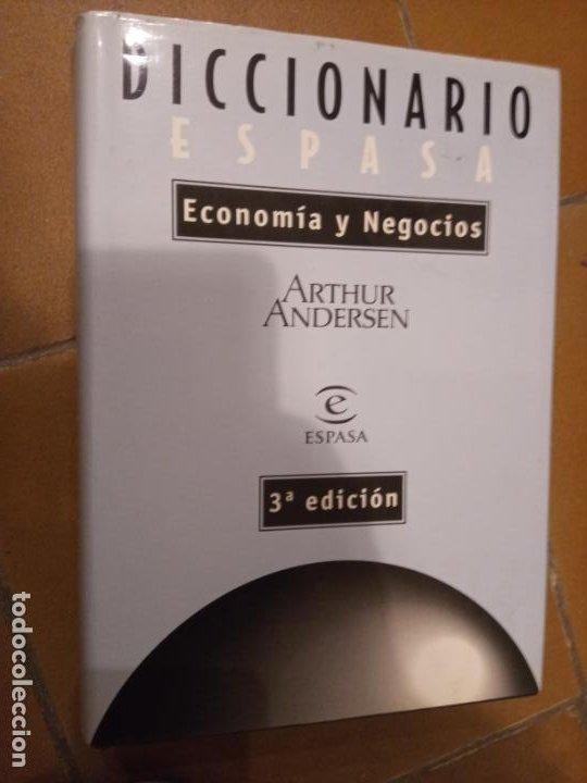 ARTHUR ANDERSEN: DICCIONARIO ESPASA DE ECONOMÍA Y NEGOCIOS (Libros de Segunda Mano - Ciencias, Manuales y Oficios - Derecho, Economía y Comercio)