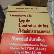 Libros de segunda mano: COMENTARIOS A LA LEY DE CONTRATOS DE LAS ADMINISTRACIONES. Lote 214430560