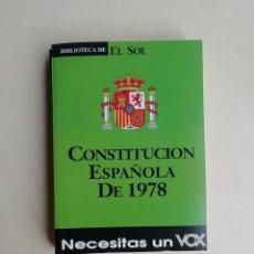 Libros de segunda mano: CONSTITUCIÓN ESPAÑOLA DE 1978. Lote 214515733