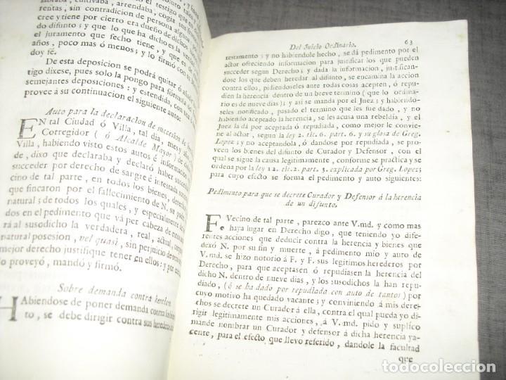 Libros de segunda mano: libro derecho antiguo instruccion de escribanos Josep Juan y Colom 1777 - Foto 6 - 214655757