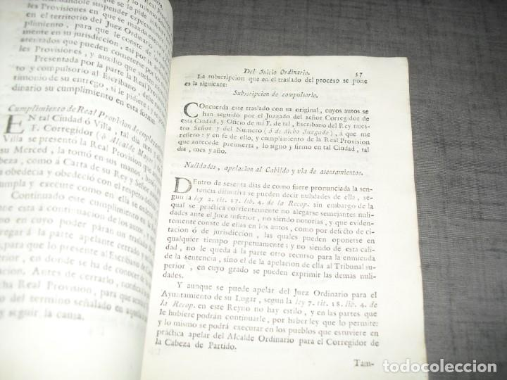 Libros de segunda mano: libro derecho antiguo instruccion de escribanos Josep Juan y Colom 1777 - Foto 7 - 214655757