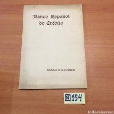 Libros de segunda mano: BANCO ESPAÑOL DE CRÉDITO. Lote 215454462