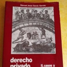 Libros de segunda mano: DERECHO PRIVADO ROMANO, MANUEL JESUS GARCÍA, PYMY 14. Lote 217028783