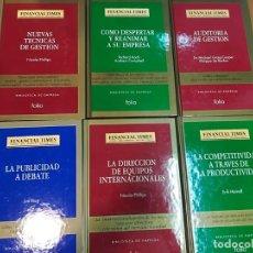 Libros de segunda mano: COLECCIÓN BIBLIOTECA DE EMPRESA (FINANCIAL TIMES-FOLIO). LIBROS SUELTOS 46 TOMOS S589T. Lote 217223013