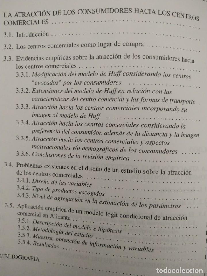 Libros de segunda mano: MARKETING / LA ATRACCIÓN QUE EJERCEN LOS CENTROS COMERCIALES SOBRE LOS CONSUMIDORES - Foto 5 - 217933158