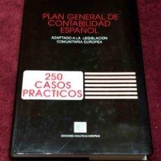 Libros de segunda mano: PLAN GENERAL DE CONTABILIDAD, 250 CASOS PRÁCTICOS. LUIS GONZÁLEZ PINO -EDICIONES ANALITÍCAS EUROPEAS. Lote 218049047