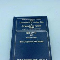 Libros de segunda mano: COMENTARIOS AL CÓDIGO CIVIL Y COMPILACIONES FORALES. TOMO XXVII. VOL. 2. ARTICULOS 52 AL 96. Lote 218372870