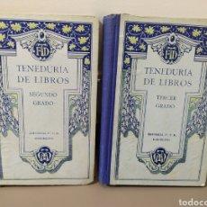 Libros de segunda mano: TENEDURÍA DE LIBROS 2º Y 3º GRADO DE FTD (FOBAT TIMORATEM DEUM) 1925Y 1926. Lote 218548790